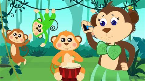 cinco macacos pequenos desenho animado v 237 deo crian 231 as song five monkeys