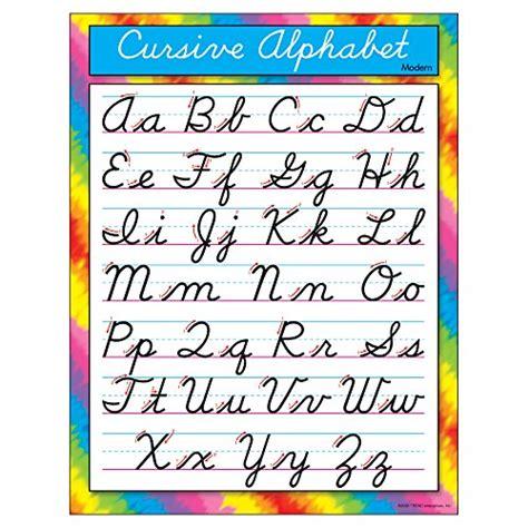 Cursive Alphabet Letters Amazoncom