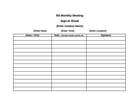 event sign in sheet template 14 sle meeting sign in sheets sle templates