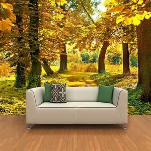 Custom Mural Wall Paper 3D HD Autumn Maple Leaf Grove ...