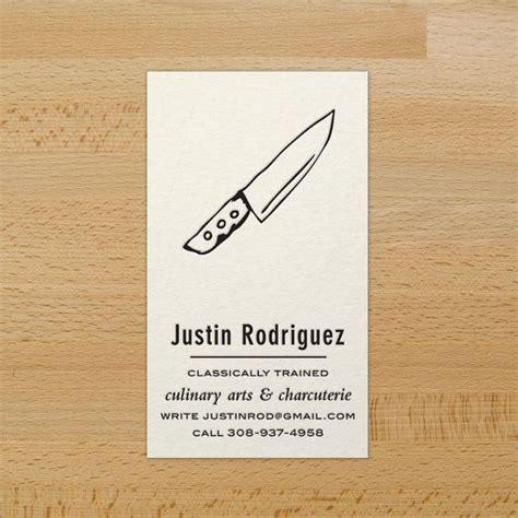chefs knife custom letterpress business cards  sale