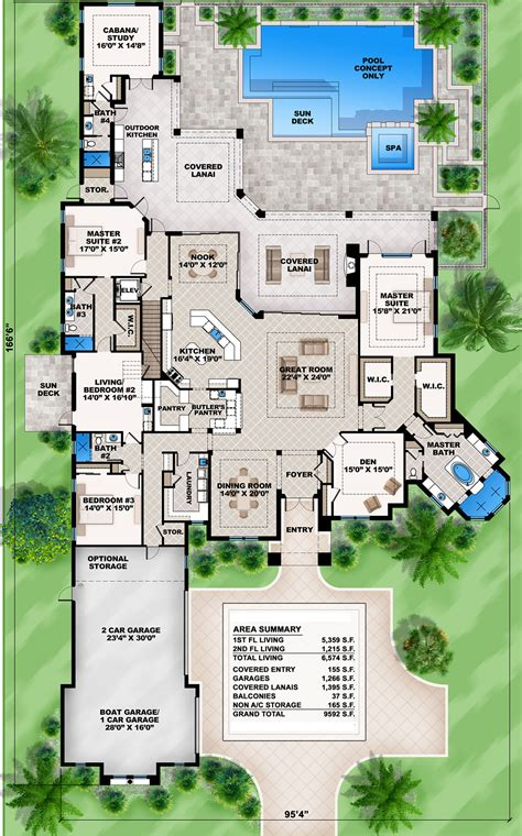 Floor Master House Plans by Plan 86021bw Mediterranean Home Plan With 2 Master