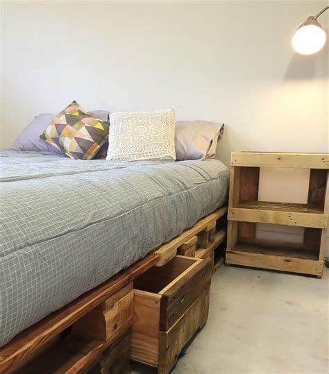euro pallet bed  storage drawers  pallets