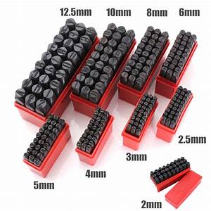 27pcs stamps letters set punch steel metal die tool case With letter punch set for metal