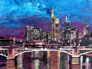 Who S Perfect Frankfurt : frankfurt main germany mainhattan skyline painting by m bleichner ~ Watch28wear.com Haus und Dekorationen