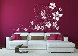 wandtattoo schmetterlinge blumen With applying the harmony to your living room paintings