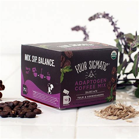 Finally, a cup of coffee that helps you master stress, rath. Four Sigmatic Adaptogen Coffee Mix - 10 Pack » Sun Valley Health