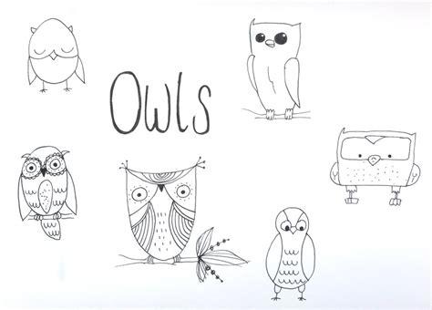 In 10 Minuten 6 Niedliche Eulen Zeichnen  Nur So Zum Spaß