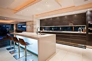contemporary kitchen island contemporary sgnw house mesmerizes with fluid charm in the wilderness of south africa