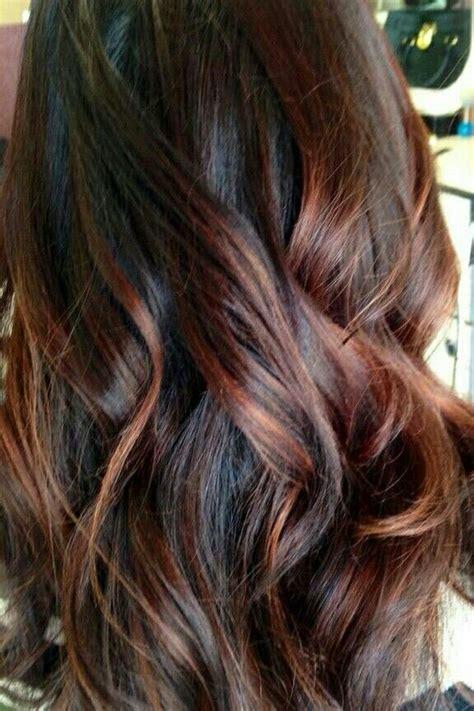 ideas  auburn hair  highlights
