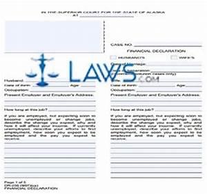 Financial Declaration Alaska Forms
