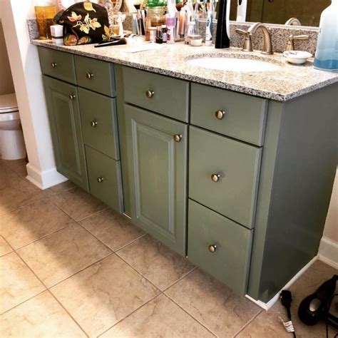 double vanity  basil milk paint general finishes