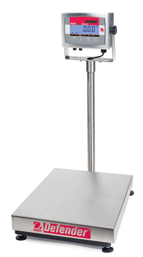 Ohaus Defender 3000 Stainless Steel Bench Scale Brady