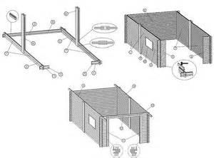 Garage Bois 20m2 : garage bois plus garage en bois environ 16m2 en madriers ~ Melissatoandfro.com Idées de Décoration