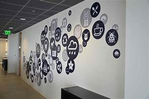 Creative office branding using wall graphics from vinyl