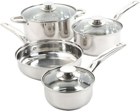 pans pots cooking stainless steel stick cookware non kitchen piece