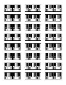 Blank Printable Piano Chords Chart