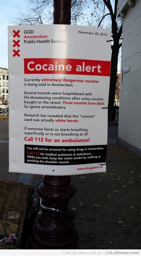 Amsterdam Memes - amsterdam health warning to tourists you will not be arrested for using drugs in amsterdam