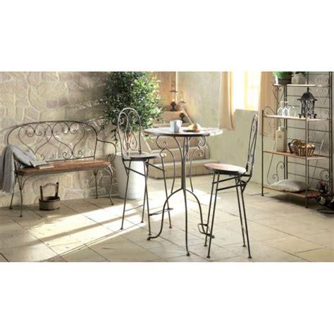 chaise de bar en bois chaise haute bar bois et fer forgé jeanne pier import