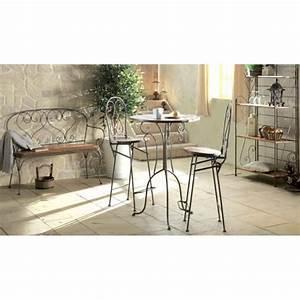 Chaise Fer Forgé Et Bois : chaise haute bar bois et fer forg jeanne pier import ~ Dailycaller-alerts.com Idées de Décoration
