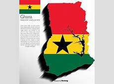 Vector 3d Ghana Map With Flag Download Free Vector Art