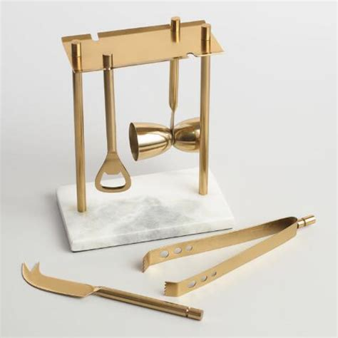 gold bar tools marble and gold bar tool set world market 5123