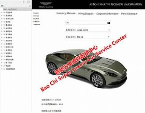 Aston Martin Db11 Workshop Service Manual Wiring Diagram