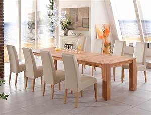 Esstisch Stühle Beige : tischgruppe kernbuche tisch marco 200 300 x100 8 st hle robin beige wohnbereiche esszimmer ~ Markanthonyermac.com Haus und Dekorationen