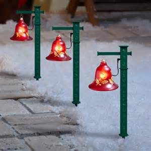 3pc lighted musical pathway bells by mr 67525 outdoor lighted