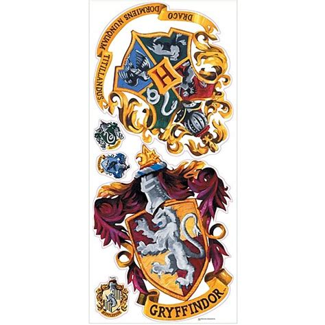 """Architectural wall decor architectural resin plaques and large wall panels. RoomMates® Hogwarts Crest Peel and Stick Giant Wall Decal, 18"""" x 40"""" at Staples"""