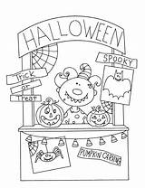 Halloween Monster Booth Dearie Digi Stamps Dolls Coloring Pages Freedeariedollsdigistamps Embroidery Paper sketch template
