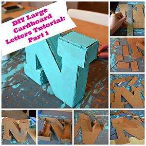 diy large cardboard letters part 1 the creative physician With diy giant letters