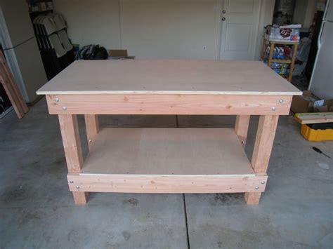 Awesome Wooden Style Garage Workbench Storage