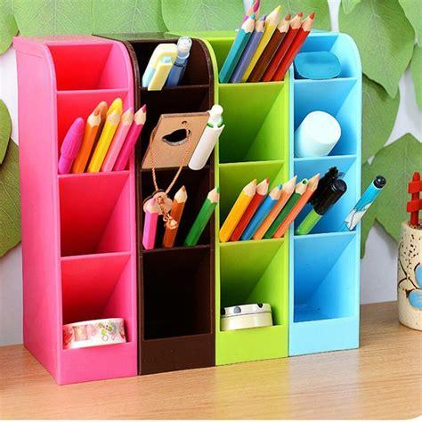 desk pencil organizer plastic desk organizer desktop office pen pencil holder