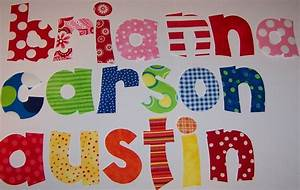 iron on fabric name alphabet letters applique pick a With iron on fabric letters