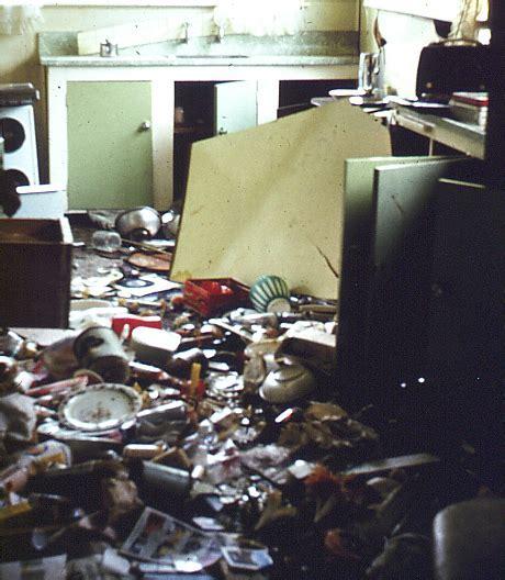 File:Kitchen after earthquake, Inangahua 1968