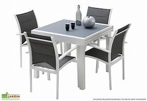 Salon De Jardin Modulo Table Extensible 4 Fauteuils 5