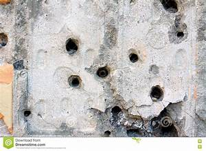 Bullet holes in the wall stock image. Image of riddled ...