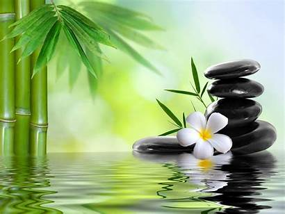 Bamboo Flower Stone Stones Water Wallpapers Spa