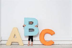 alphabet letter diy With giant styrofoam letters