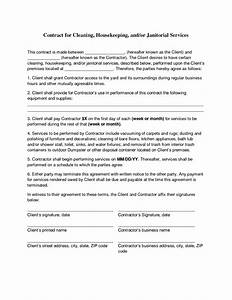 commercial cleaning contract templates - cleaning contract agreement cleaning contracts free