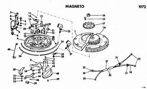 Johnson Magneto Parts For 1972 40hp 40e72e Outboard Motor