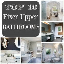 Bathroom Vanity Light Fixtures Pinterest by Top 10 Fixer Upper Bathrooms Restoration Redoux