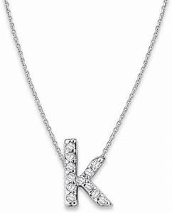 kc designs white gold diamond letter k necklace in silver With white gold letter k necklace