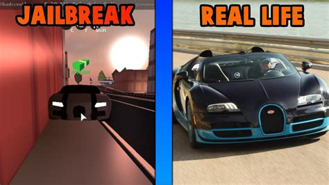 Roblox Jailbreak Cars In Real Life!! Youtube