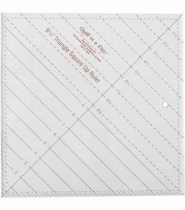 Quilt in A Day-9-1/2'' Triangle Square Up Ruler Jo-Ann