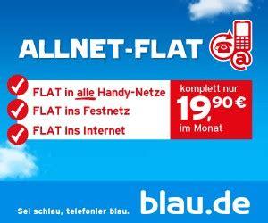 blau allnet flat prepaid handy und datenflat im  netz