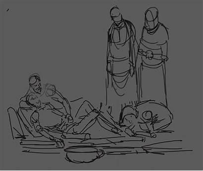 Blasphemous Concept Ii Painting Cult Tries Land