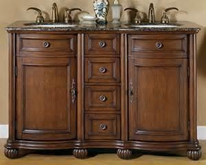 silkroad 52 quot double bathroom vanity brown granite top