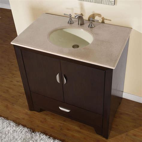 modern single bathroom vanity   sink espresso